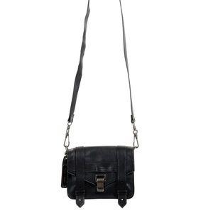 Proenza Schouler Black Leather Mini Crossbody Bag
